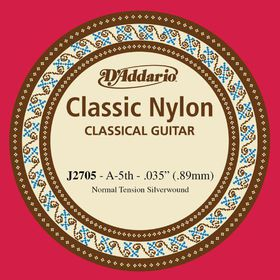 D'Addario J2705 Student Nylon Normal Tension Classical Guitar Single String - A Fifth String