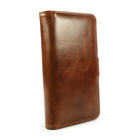 Tuff-Luv Vintage Leather Wallet Case (incl Screen Protector) for Samsung Galaxy Note 5 - Brown