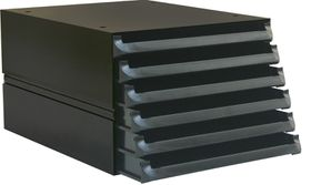 Bantex Texo Modular 6 Drawer Storage System - Black