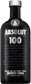 Absolut - 100 Vodka - Case 6 x 750ml