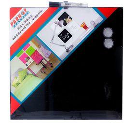 Parrot Whiteboard Tile Magnetic 360 x 360mm - Black