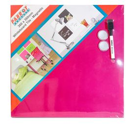 Parrot Whiteboard Tile Magnetic 360 x 360mm - Pink
