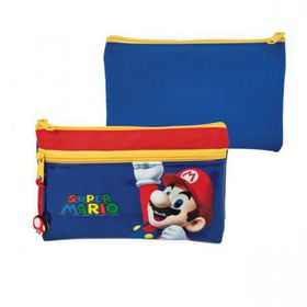 Super Mario Big Pencil Case with Zips