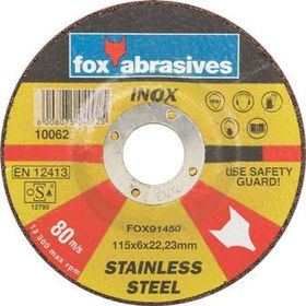 Fox Tools - Abrasive Grinding Disc Stainless Steel - 115 x 6mm