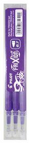 Pilot Frixion Ball/Clicker Erasable Pen Refills - 0.7mm Violet (3 Pack)