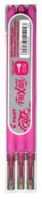 Pilot Frixion Point Erasable Pen Refills - 0.5mm Pink (3 Pack)