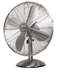 Goldair - 40cm Desk Fan - White