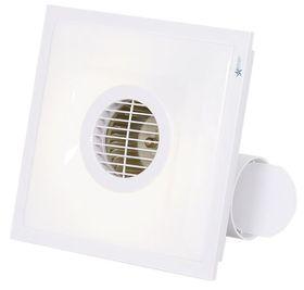 Bright Star - Square Bathroom E xtractor Fan - White