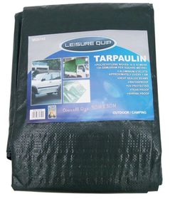 LeisureQuip - Tarpaulin Size 3M X 3M With Reinforced Corners - Grey
