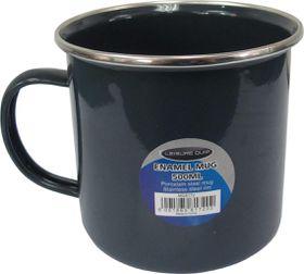 LeisureQuip - 500Ml Large Enamel Coffee Mug - Grey