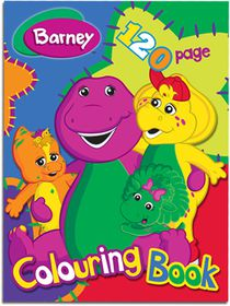 Barney 120 Page Colouring Book