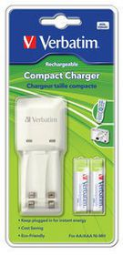 Verbatim Rechargeable NiMH AAA 1000 mAh Battery & Charger