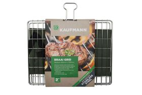 Kaufmann - Braai Grid Adjustable Stainless Steel Box - Medium