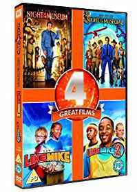 Night at the Museum1 + 2 / Like Mike 1 + 2 (DVD)