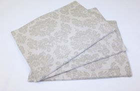 Balducci - Earthstone Damask Placemats Set Of 6 - Khaki