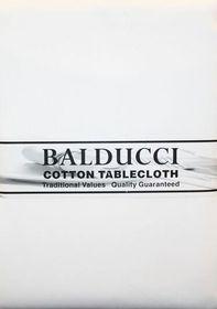 Balducci Cotton White Round Tablecloth - 4 Seater