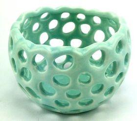 Pamper Hamper - Ceramic Candle Holder - Teal