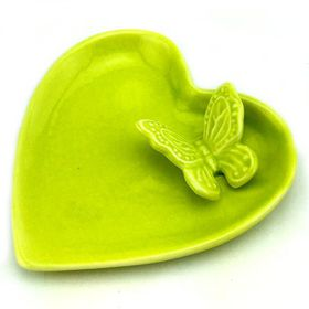 Pamper Hamper Ceramic Heart Tray - Green