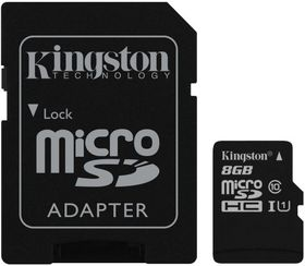 Kingston 8GB MicroSDHC Class 10 UHS-I