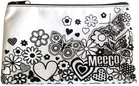 Meeco Doodle Me Small (21cm) Pencil Bag with Zip - Junior Girls