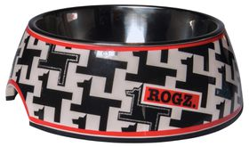 Rogz 2-in-1 Houndstooth Bubble Dog Bowl - Extra Large