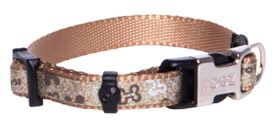 Rogz Lapz Trendy Brown Bones Side Release Dog Collar - Extra Small