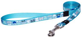 Rogz Lapz Trendy Blue Bones Fixed Long Dog Lead - Medium
