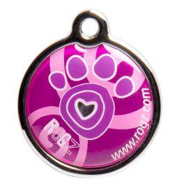 Rogz ID Tagz Pink Paws Metal Tag - Large
