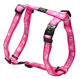 Rogz Fancy Dress Pink Paws Dog H-Harness - Extra Large
