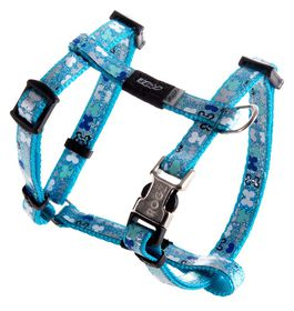 Rogz Lapz Trendy Blue Bones Dog H-Harness - Extra Small