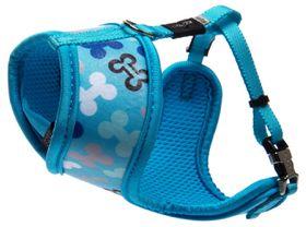 Rogz Lapz Trendy Blue Bones Wrapz Harness - Extra Small