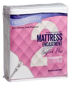 Protect-A-Bed - Buglockplusmattress Encasement 35 cm Depth - Size: Three Quarter