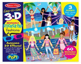 Melissa & Doug Fashion 3D Reusable Sticker Pad