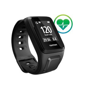 TomTom Spark Cardio GPS Fitness Watch - Small - Black