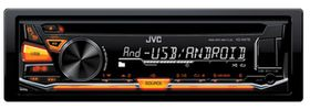 JVC Single Din Cd Receiver With Front Usb/Aux Input