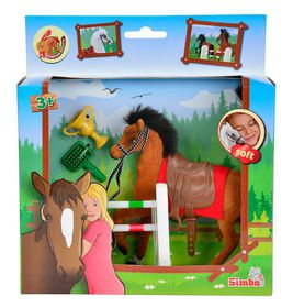 Champion Beauty Horse with Accessories Brown
