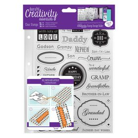Docrafts Creativity Essentials A5 Clear Stamp Set - Male Family