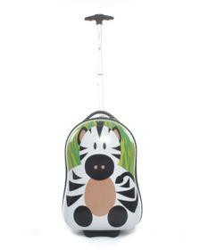 Paklite Zoo Baby Trolley Case Zebra - Green