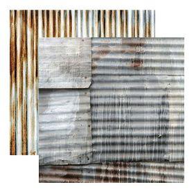 Kaisercraft Base Coat Double Sided Paper - Corrugated Iron (10 Sheets)