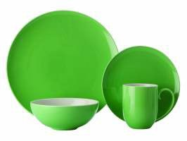 Maxwell and Williams - Colour Basics Coupe Dinner Set 16 Piece - Green