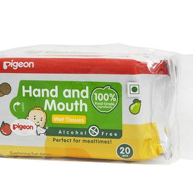 Pigeon - Hand and Mouth Wipes 2-in-1 - 20 Piece