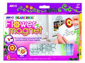 Amos Glass Deco Flower Magnet Set