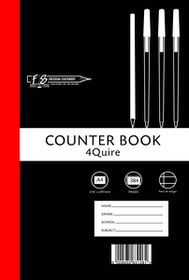 Freedom Stationery 4-Quire 384 Page A4 F&M Counter Book
