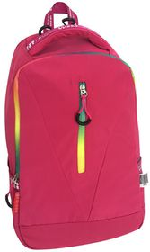 Edison 15.6'' Laptop Backpack in Fuschia with Neon Zip