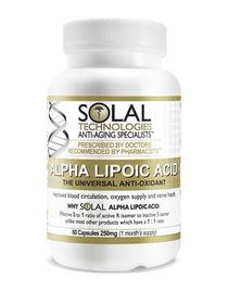 Solal Alpha Lipoic Acid 250mg - 60s