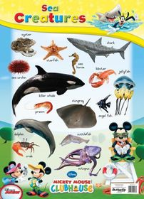 Butterfly Wallchart - Mickey Mouse Sea Creatures