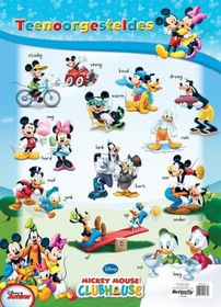 Butterfly Wallchart - Mickey Mouse Teenoorgesteldes