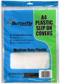 Butterfly A4 Plastic Slip On Clear Covers - 10s