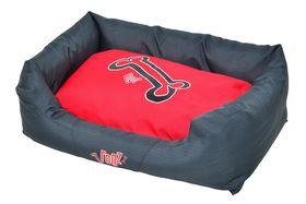 Rogz - Spice Podz Dog Bed - Medium - Red Rogz Bones Design
