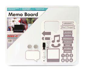 Parrot Whiteboard Tile Magnetic 500 x 400mm - Memo